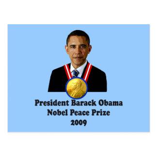 President Obama Nobel Peace Prize Winner 2009 Postcard