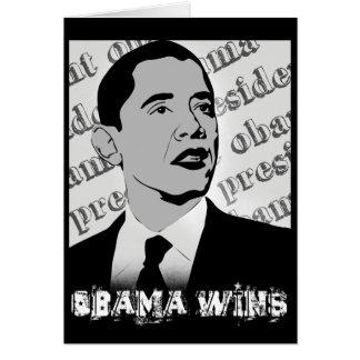 president obama - obama wins card
