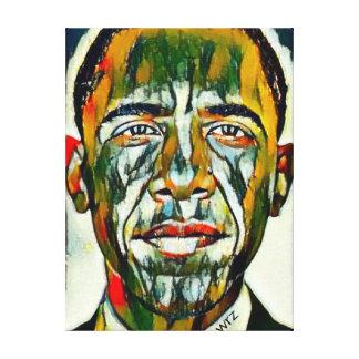 President Obama Oil Portrait Canvas Print