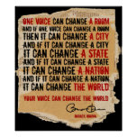 PRESIDENT OBAMA-ONE VOICE POSTER