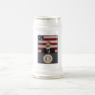 President Obama Painting Beer Stein