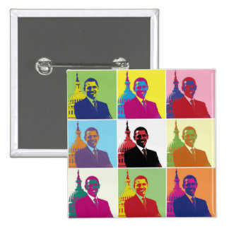 President Obama Pop Art Button