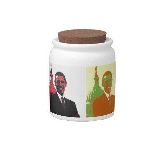 President Obama Pop Art Candy Jar