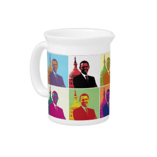 President Obama Pop Art Drink Pitcher