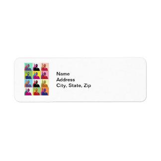 President Obama Pop Art Label