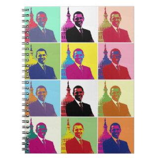 President Obama Pop Art Notebook