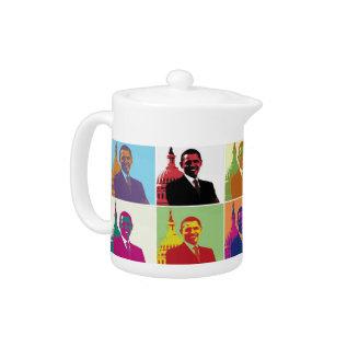President Obama Pop Art Teapot at Zazzle
