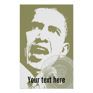 President Obama - Poster - template