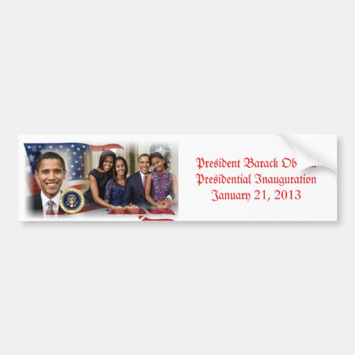 President Obama Presidential Inauguration Bumper Sticker
