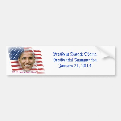 President Obama Presidential Inauguration Bumper Stickers