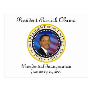 President Obama Presidential Inauguration Postcard