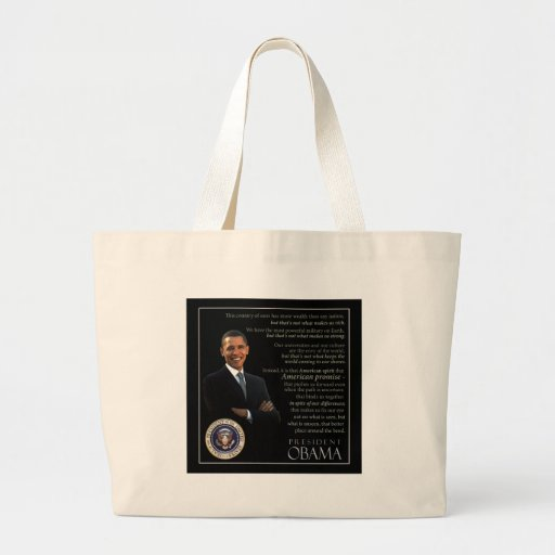President Obama Quote Canvas Bags