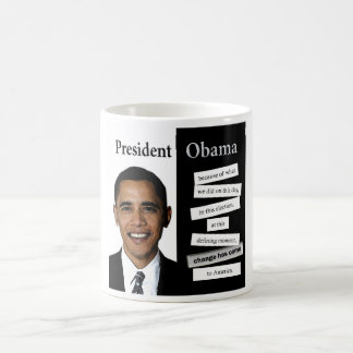 President Obama Quote Classic White Coffee Mug