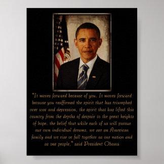 President Obama Reelected Nov 6 2012 Poster