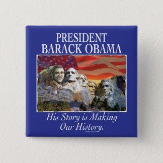 President Obama Rushmore Gear Pinback Button