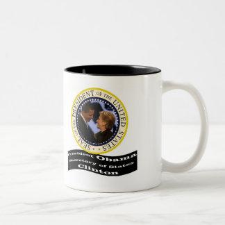 President Obama  Sec. of States Clinton Coffee Mugs