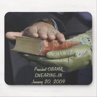 President Obama SWEARING-IN Commemorative Mouse Pad