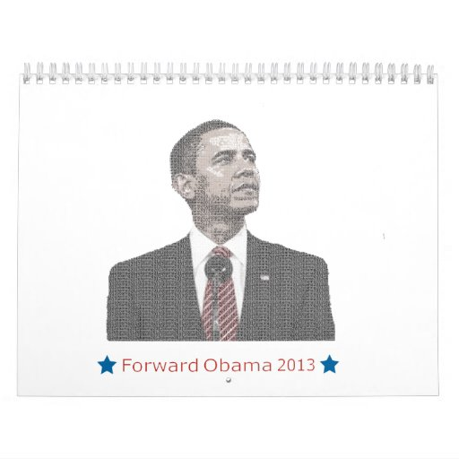 President Obama Text Portrait Wall Calendars