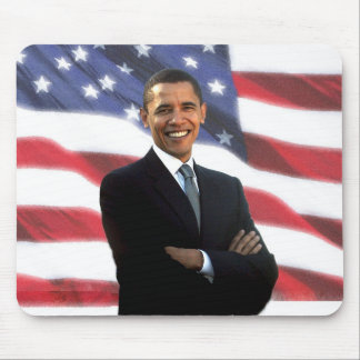 President Obama & The American Flag Mouse Pad