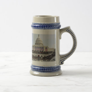 President Obama THE SWEARING-IN USCapitol 18 Oz Beer Stein