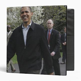 President Obama walks to the basketball courst Binder