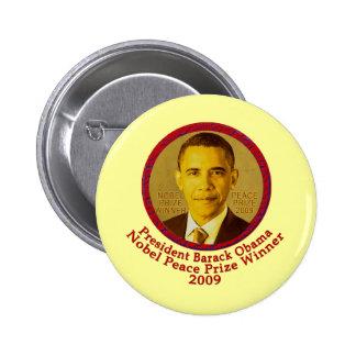 President Obama wins Nobel Peace Prize Pinback Button