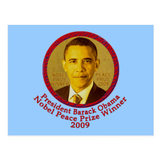 President Obama wins Nobel Peace Prize Postcard