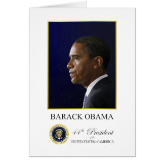 President Obama with Elegant Greeting Card