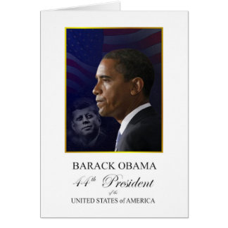 President Obama with John F Kennedy Stationery Note Card
