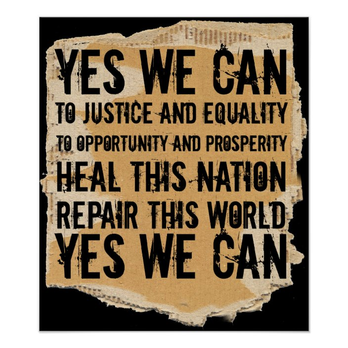 President Obama Yes We Can Poster Zazzle Com