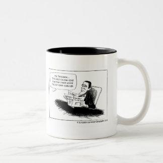 President Obama's Credit Score Lowered Two-Tone Coffee Mug