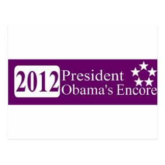 President Obama's Encore Postcard