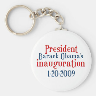President Obamas inauguration Basic Round Button Keychain