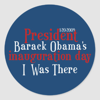President Obamas inauguration Classic Round Sticker