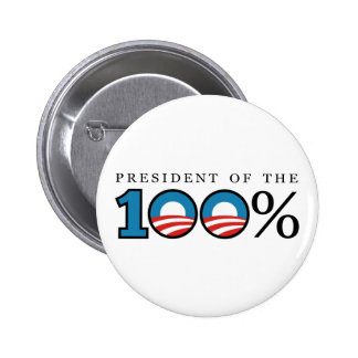 President of the 100 Percent 2 Inch Round Button