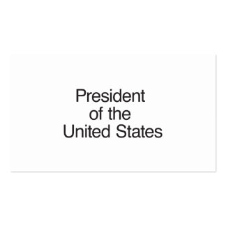 President of the United States Double-Sided Standard Business Cards (Pack Of 100)