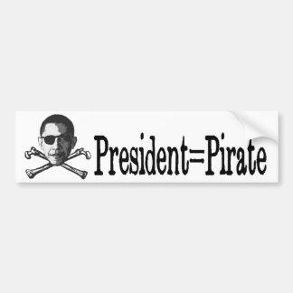 President=Pirate Bumper Sticker