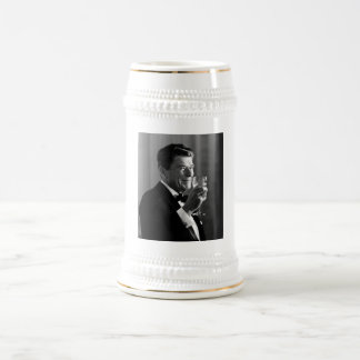 President Reagan Making A Toast Beer Stein