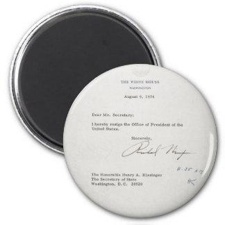 President Richard M. Nixon Resignation Letter 2 Inch Round Magnet