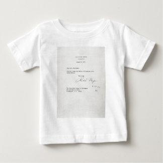 President Richard M. Nixon Resignation Letter Baby T-Shirt