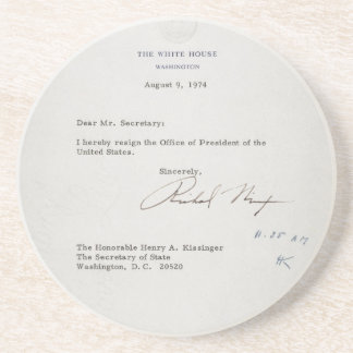 President Richard M. Nixon Resignation Letter Drink Coaster