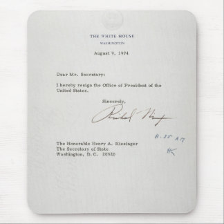 President Richard M. Nixon Resignation Letter Mouse Pad