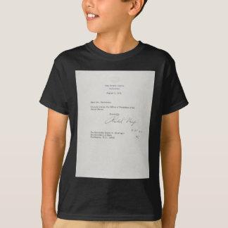 President Richard M. Nixon Resignation Letter T-Shirt