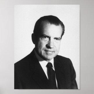 President Richard Nixon Portrait Poster