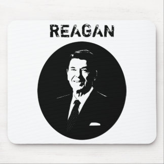 President Ronald Reagan -- Black and White Mouse Pad
