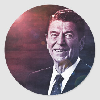 President Ronald Reagan Classic Round Sticker