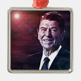 President Ronald Reagan Metal Ornament