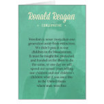 President Ronald Reagan Quote Greeting Card
