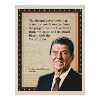 President Ronald Reagan Quote Customized Letterhead