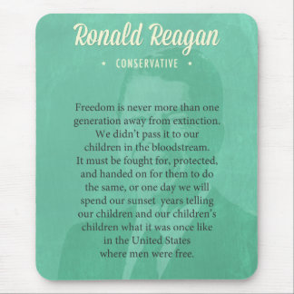 President Ronald Reagan Quote Mouse Pad